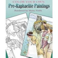 color your own pre-raphaelite 2